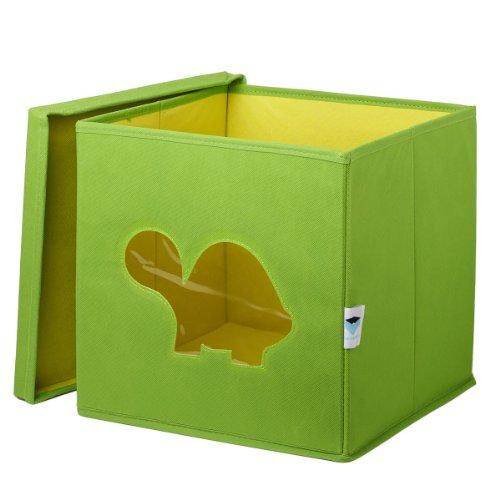 STOREIT-750060-Spielzeugkiste-mit-Sichtfenster-30-x-30-x-30-cm-Schildkrte-grn
