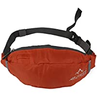 Generic Oxford Fabric Fitness Waist Bag Zip Pouch Belt Wallet Sports Travel Orange