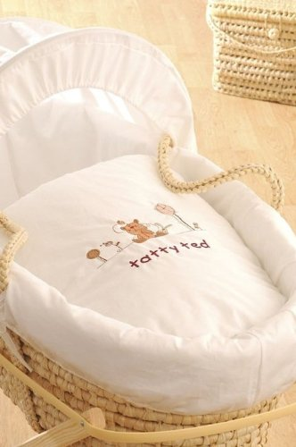 Tatty Ted Designer moses basket & stand