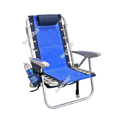 Rio Ultimate Backpack Beach Chair w/ cooler - Blue Textilene