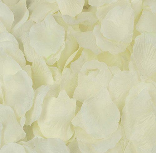 Anboo 1 Pack of 1000PC Silk Artificial Flower Rose Petals Wedding Party Decorations (Light Yellow)