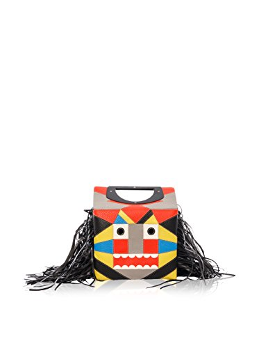 Christian Louboutin Women's Passage Mini Leo Ranch Back Bag, Multi Color