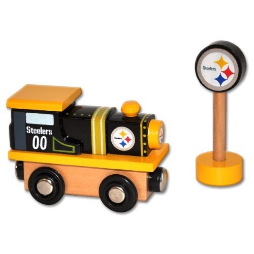 NFL Pittsburgh Steelers Wood Train - Engine
