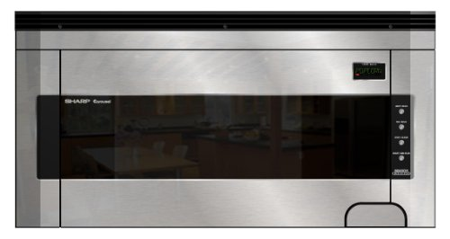 Sharp : R1514 1.5 Cu. Ft. Over-the-Range Microwave Oven with 1,000 Cooking Watts - Stainless Steel