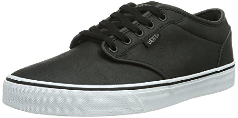... Vans Men s Atwood (Buck Leather) Black White Skate Shoe 12 Men US ... 508935673