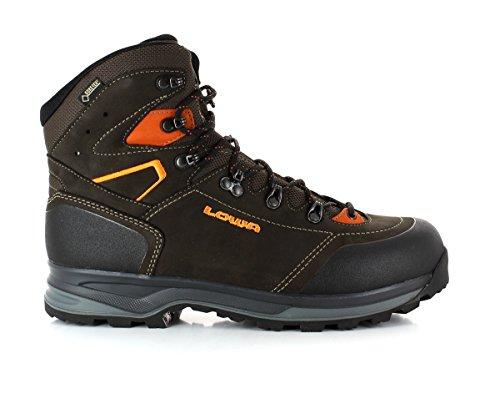 Lowa Lava Redo GTX WXL scarpe da trekking con ampia Barra, Schiefer Orange, UK 9,5 - EU 44