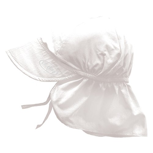 i play. Solid Flap Sun Protection Hat, White, Infant (6-18 Months)