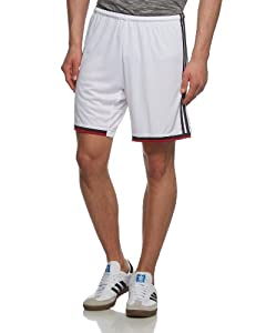 adidas Herren Kurze Hose Dfb Home Shorts, White/Black/Victory Red/Matte Silver, L, G75080