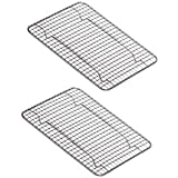 New Update International Heavy-Duty 1/4 Size Cooling Rack, Cooling Racks, Wire Pan Grade, Commercial Grade, Oven-Safe, Chrome, 8 x 10 Inches, Set of 2