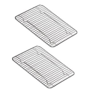 NEW, Heavy-Duty 1/4 Size Cooling Rack, Cooling Racks, Wire Pan Grade, Commercial grade, Oven-safe, Chrome, 8 x 10 Inches, Set of 2