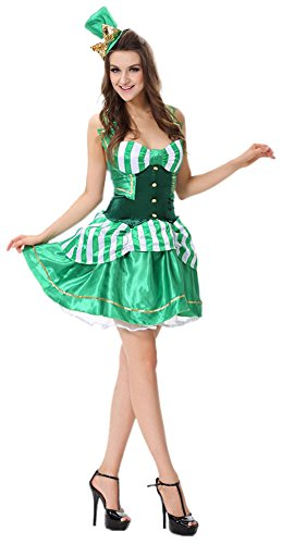 Sexy Shamrock St. Patrick's Day Sexy Irish Beer Costume Fancy Dress Outfit Halloween