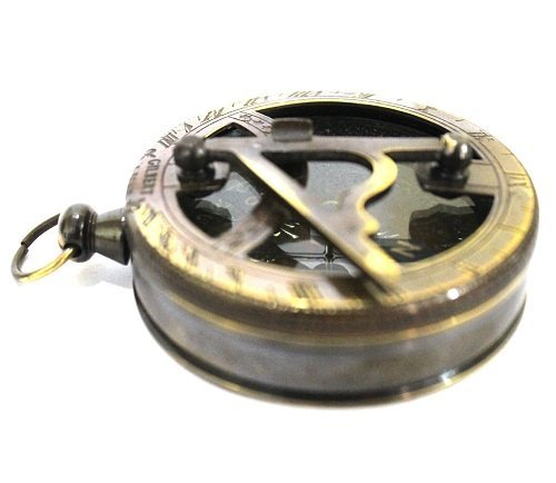 Nautical Gilbert Antique Style Pocket Compass Brass Finish 1