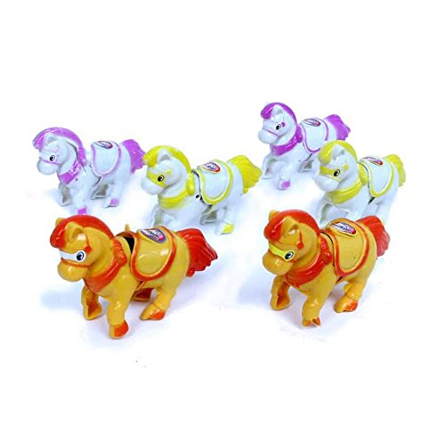 Dazzling Toys Unicorns Wind-up Animals Pack of 6 - Wind Them up and Watch Them Jump Across the Room!!