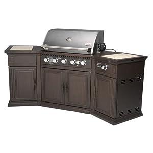 Academy sports outdoor gourmet 5 burner gas for Modular outdoor grill islands