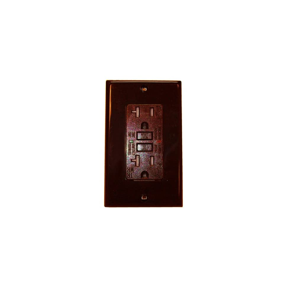 Royal Pacific 9227brn Gfci 20 Amp Tamper And Weather Resistant Portable Ground Fault Circuit Interrupte Interrupter Brown