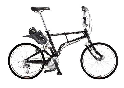 IF-Reach 8-Speeds Folding Electric Bike, Black