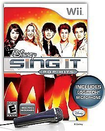 Disney Sing It Pop Hits with Microphone Bundle Wii
