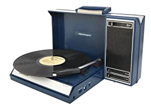 Crosley CR6016A-BL Spinnerette Portable 3-Speed Turntable with Software Suite for Ripping and Editing Audio (Blue)