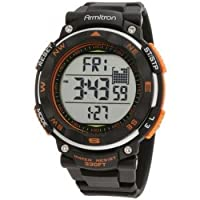 Armitron Men's 40/8254ORG Black Strap Orange Accented Digital Chronograph Sport Watch from Armitron