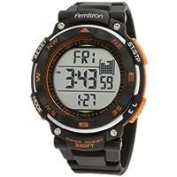 Armitron Men's 40/8254ORG Black Strap Orange Accented Digital Chronograph Sport Watch from Armitron