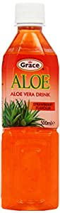 Grace Aloe Vera Drink Strawberry Flavour 500 ml (Pack of 12)