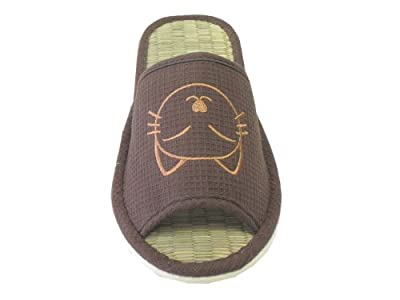 KNP26016T/Family house bamboo slippers with cat available many sizes and variety colors
