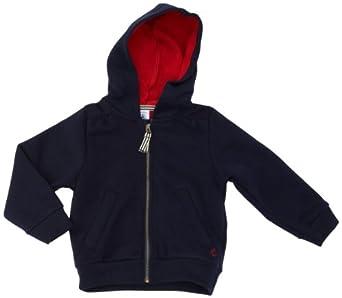 Petit Bateau - Sweat-shirt - Uni - À capuche - Manches longues - Fille - Bleu (Abysse) - FR : 3 ans (Taille fabricant : 3 ans)