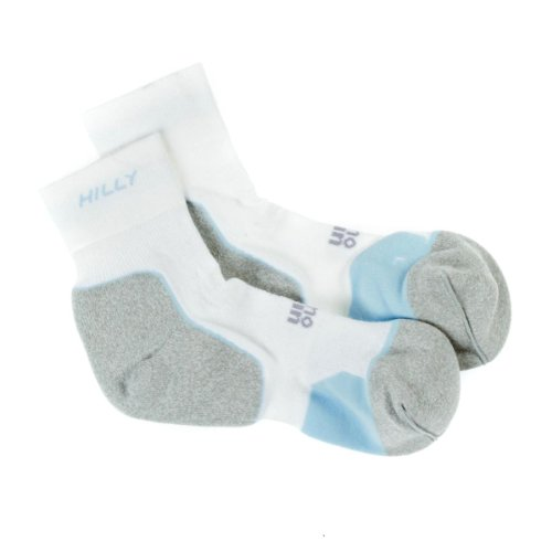 Hilly Mono Skin Supreme Anklet Socks - White/Grey/Fluo Pink