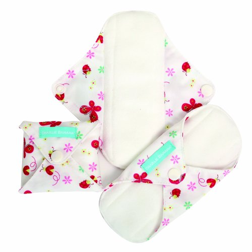 Charlie Banana Reusable Feminine Pads Liner Butterfly, Butterfly front-986178