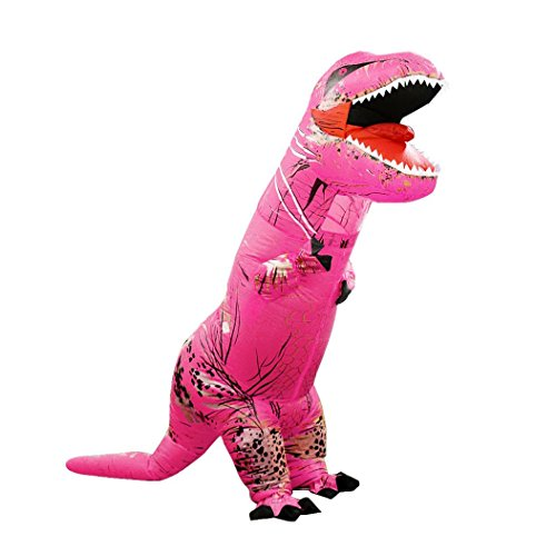 [Koolee T-Rex Inflatable Costume Adult Size Halloween Dress Up Polyester Costume] (Yeti Costume For Kids)