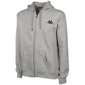 Kappa Uni Sweatjacket Frankfurt Hooded, 19m grey melange, S, 302473