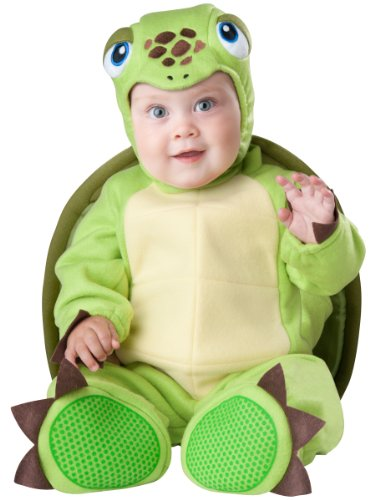 InCharacter Baby's Tiny Turtle Costume, Green, Small