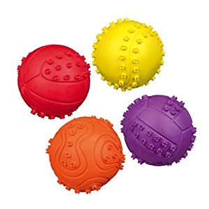 Squishy Ball Dog Toy : Amazon.com: PupsandPets 4 Soft Rubber Bouncy Ball Dog Toys: Pet Supplies