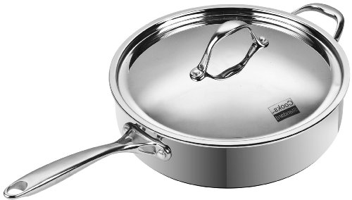Cooks Standard Multi-Ply Clad Stainless-Steel 5-Quart 11-Inch Covered Deep Saute Pan (Steel Saute Pan compare prices)