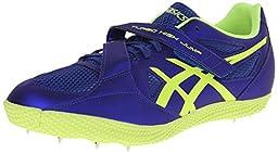 ASICS Turbo Hi Jump 2 Track And Field Shoe,Deep Blue/Flash Yellow,9.5 M US