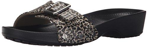 crocsSarah Leopard W - Ballerine Donna , Nero (Nero (Black 001)), 41/42