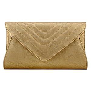 Scarleton Large Evening Envelope Clutch H338018 - Gold