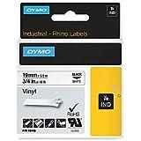 Dymo Rhino Industrial Labels Vinyl 19mm x 5.5m - Black on White