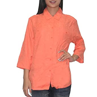 Tommy Bahama Womens Button Down Roll Tab Sleeve Shirt