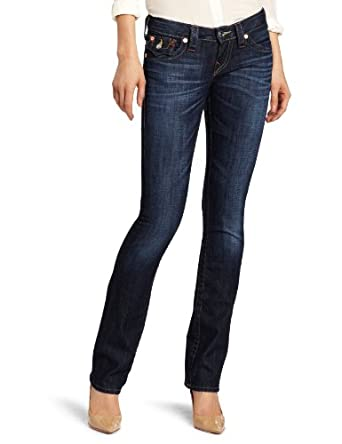 True Religion Women's Billy Straight Jeans, Assasination, 24