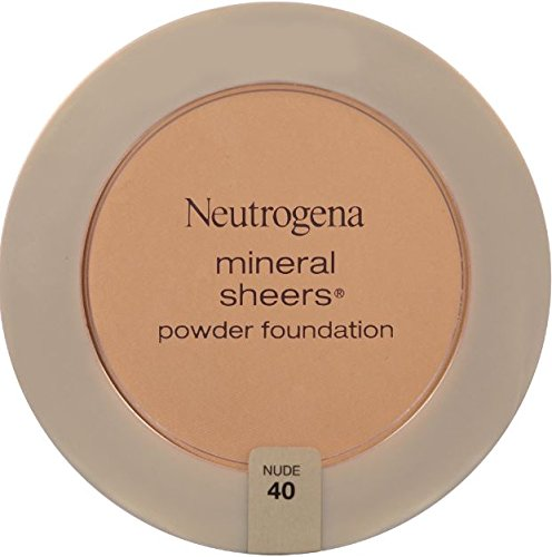 Neutrogena Mineral Sheers Powder Foundation, Nude 40, 0.34 Ounce (Pack of 2)