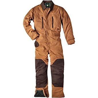 John Deere 3M Thinsulate Insulated Duck Coveralls Brown by John Deere