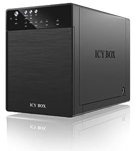"""ICY BOX IB-3640SU3 - estaciones base para HDD/SSD (Unidad de disco duro, SATA, 88.9 mm (3.5 """"), 100-240 V, 12 V, 5 A) Negro"""