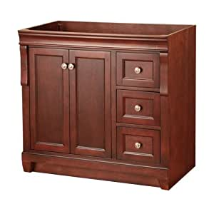 Foremost Nata3621d Naples 36 Inch Width X 21 Inch Depth Vanity Tobacco Bathroom Vanities