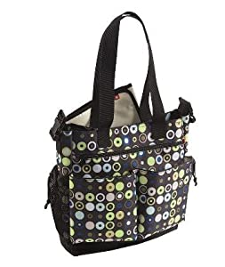 skip hop stroller diaper bag tote mod circles blue baby. Black Bedroom Furniture Sets. Home Design Ideas