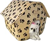 Cats/Dogs Collapsible Pets Paw Prints House-Large