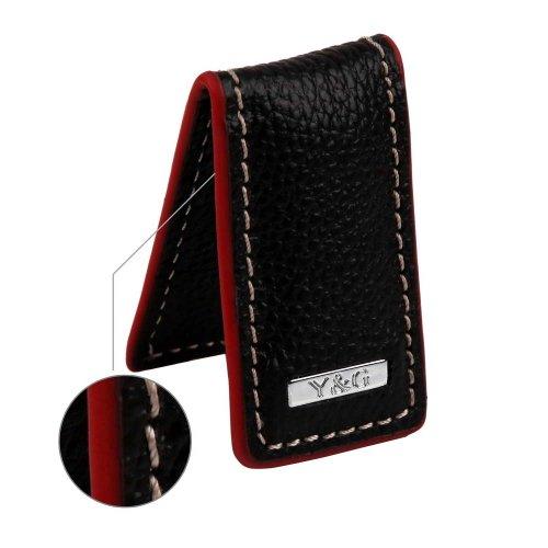 MC3003 Black Genuine Cavier leather Money Clips