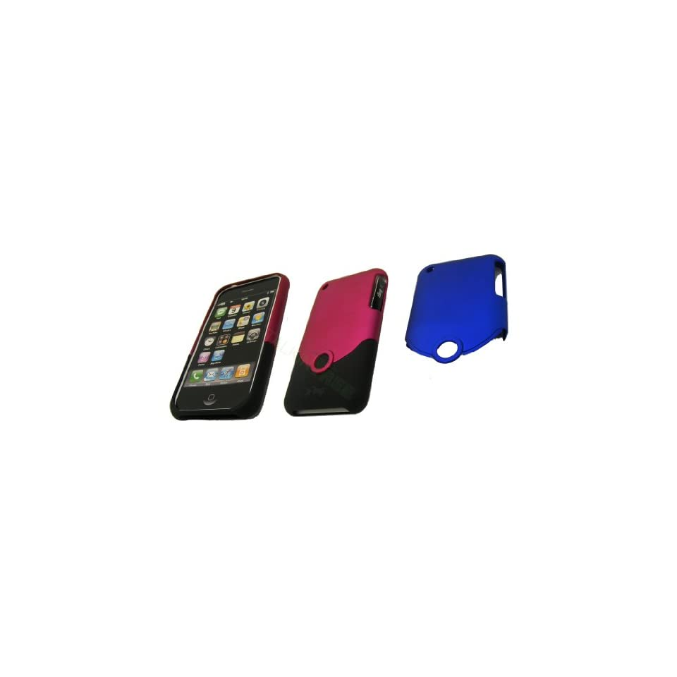 OEM IFROGZ PINK BLACK OR BLACK BLUE CASE FOR IPHONE 3G 3GS