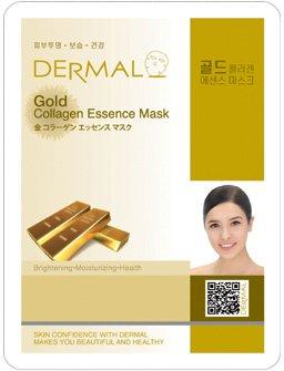 新DERMAL 金 コラーゲン エッセンスマスク 顔用シートマスクパック