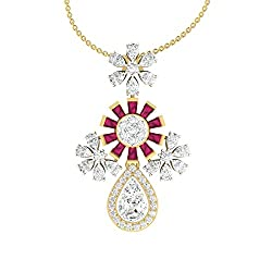 TBZ - The Original 18k (750) Yellow Gold and Diamond Pendant